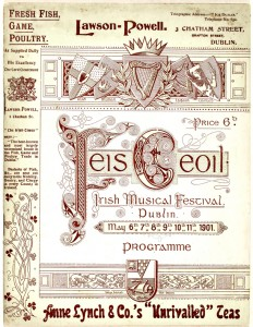Feis Ceoil Programme, 6 to 11 May 1901