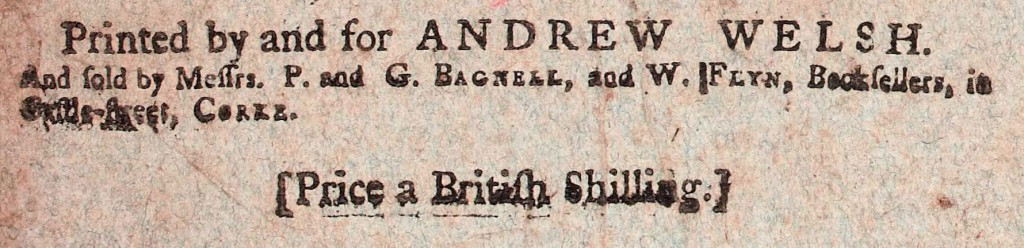 From title page of Magazine of Magazines, August 1768. NLI call no. J 05