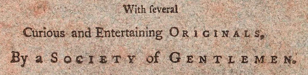 From title page of Magazine of Magazines, May 1756. NLI call no. J 05