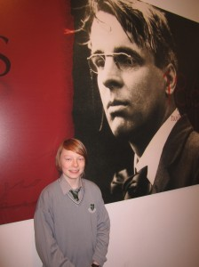 Barry under the watchful eyes of W.B. Yeats