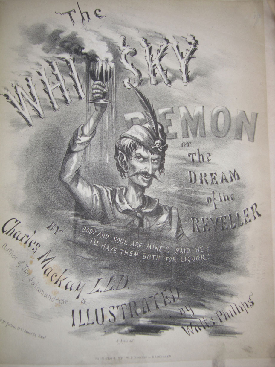 The Whisky Demon or The Dream of the Reveller by Charles Mackay; Illustrated by Watts Phillips; 1860.  (J 1781)