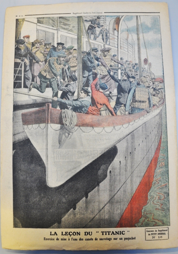 This illustration in our Prints & Drawings collection shows that safety lessons were learned following the sinking of the Titanic (supplement from the Parisian daily, Le Petit Journal, no. 16, June 1912)