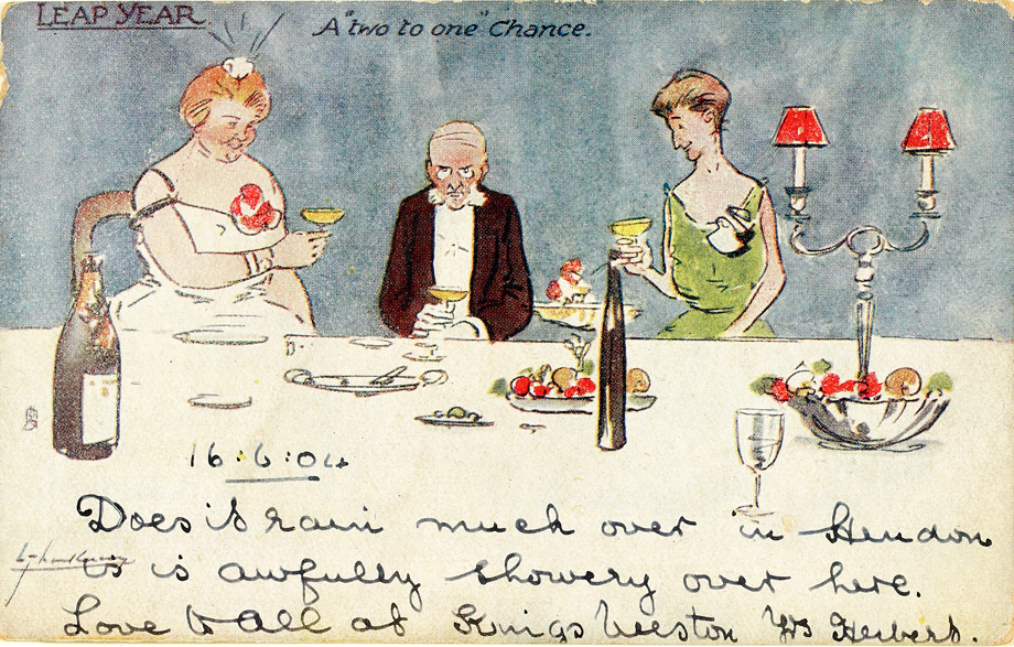 LEAP YEAR A two to one Chance by Lance Thackery, 1904. From our Niall Murphy Collection, Ephemera