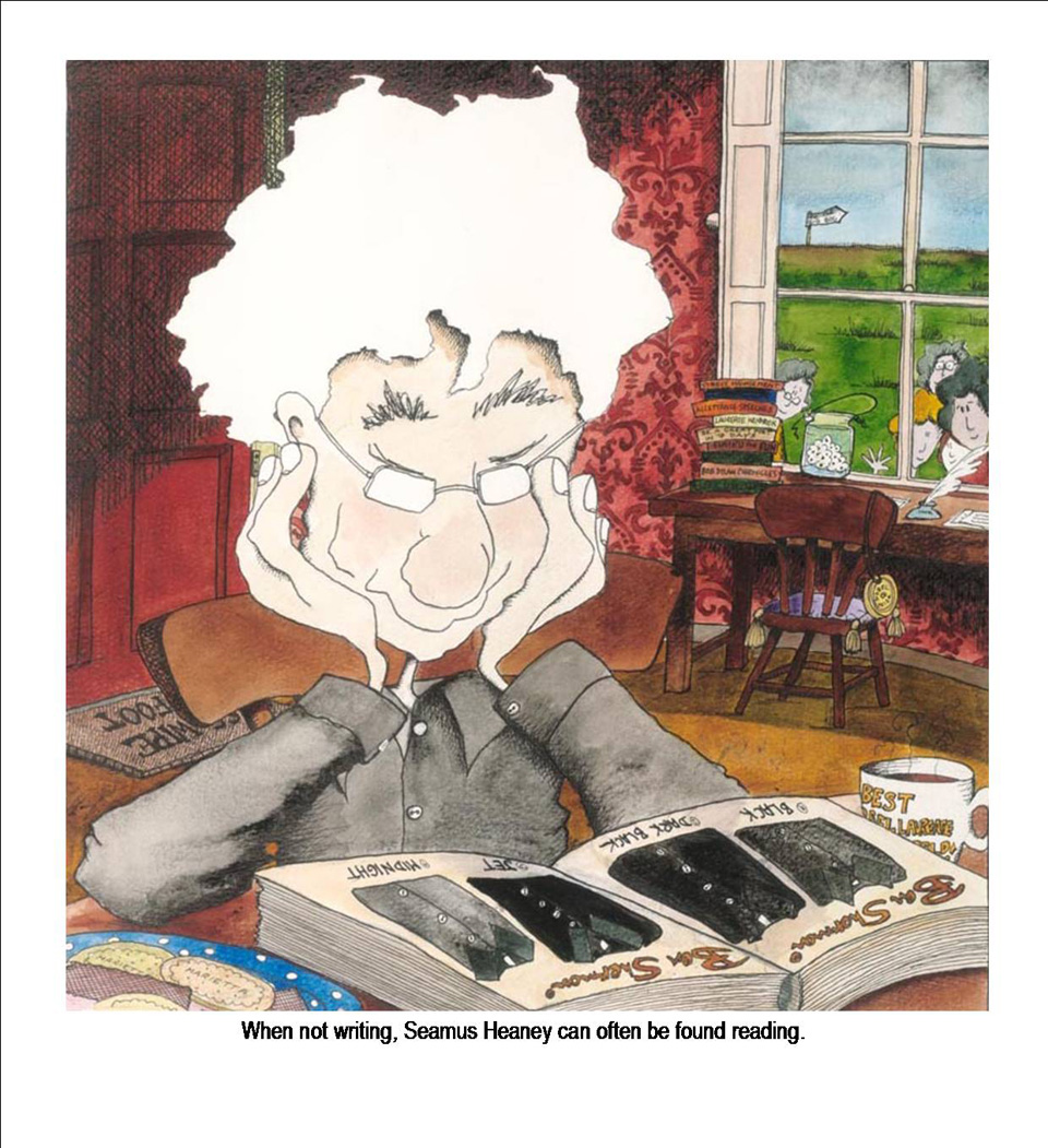 When not writing, Seamus Heaney can often be found reading. By Annie West.
