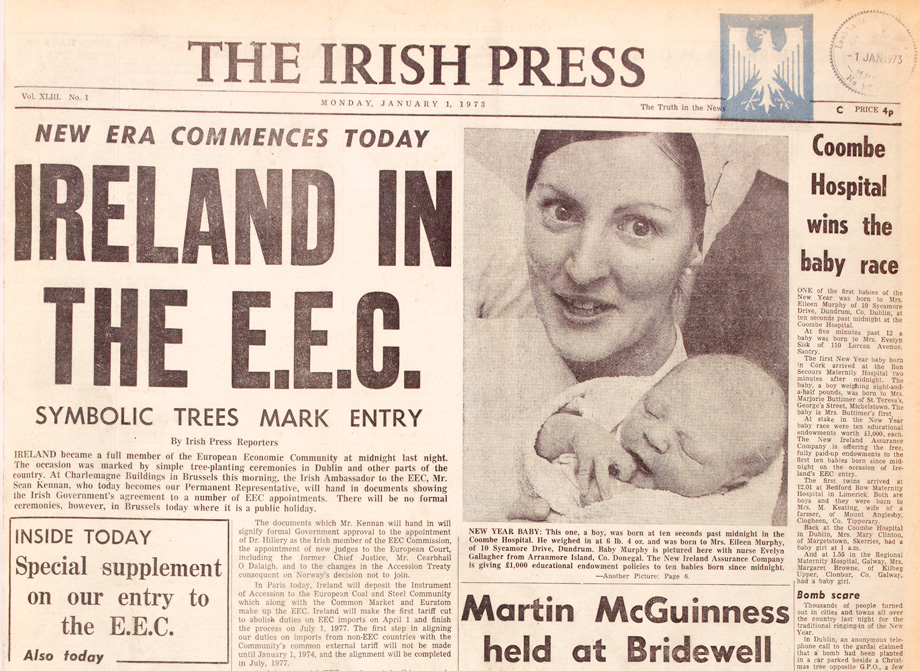Irish Press, 1 January 1973