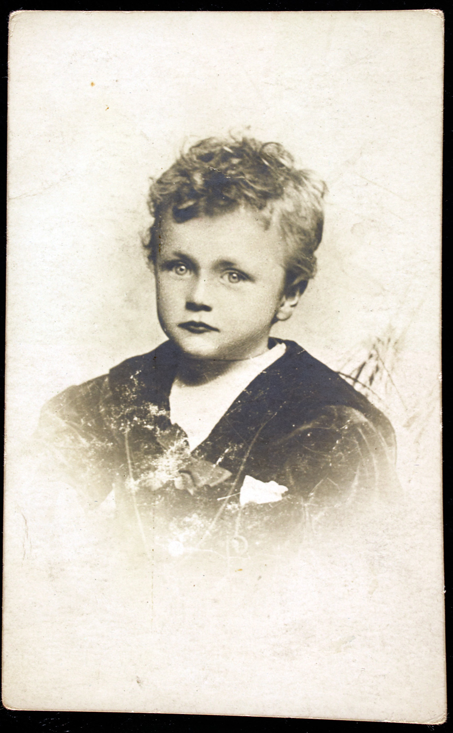 Jack Jenkinson as a little boy, dressed in a sailor's outfit
