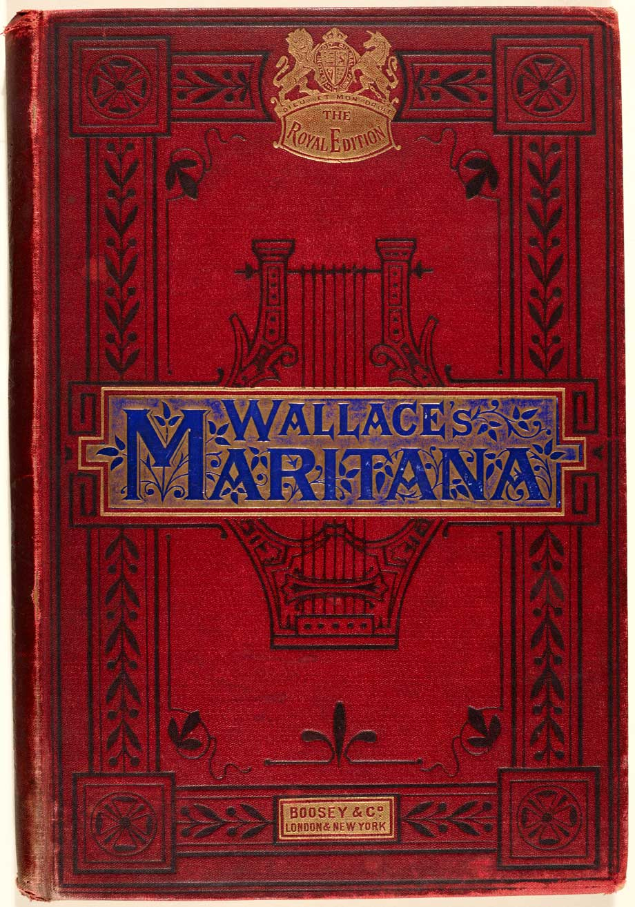 From our Music Collection, the beautiful cover of Maritana by William Vincent Wallace, 1880s. NLI ref. MU-vb-3