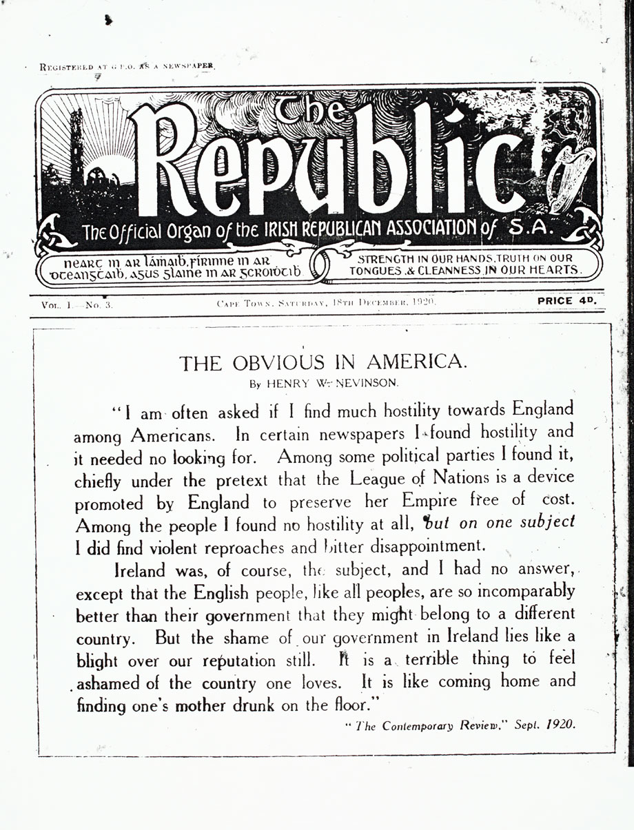 The Republic from Saturday, 18 December 1920