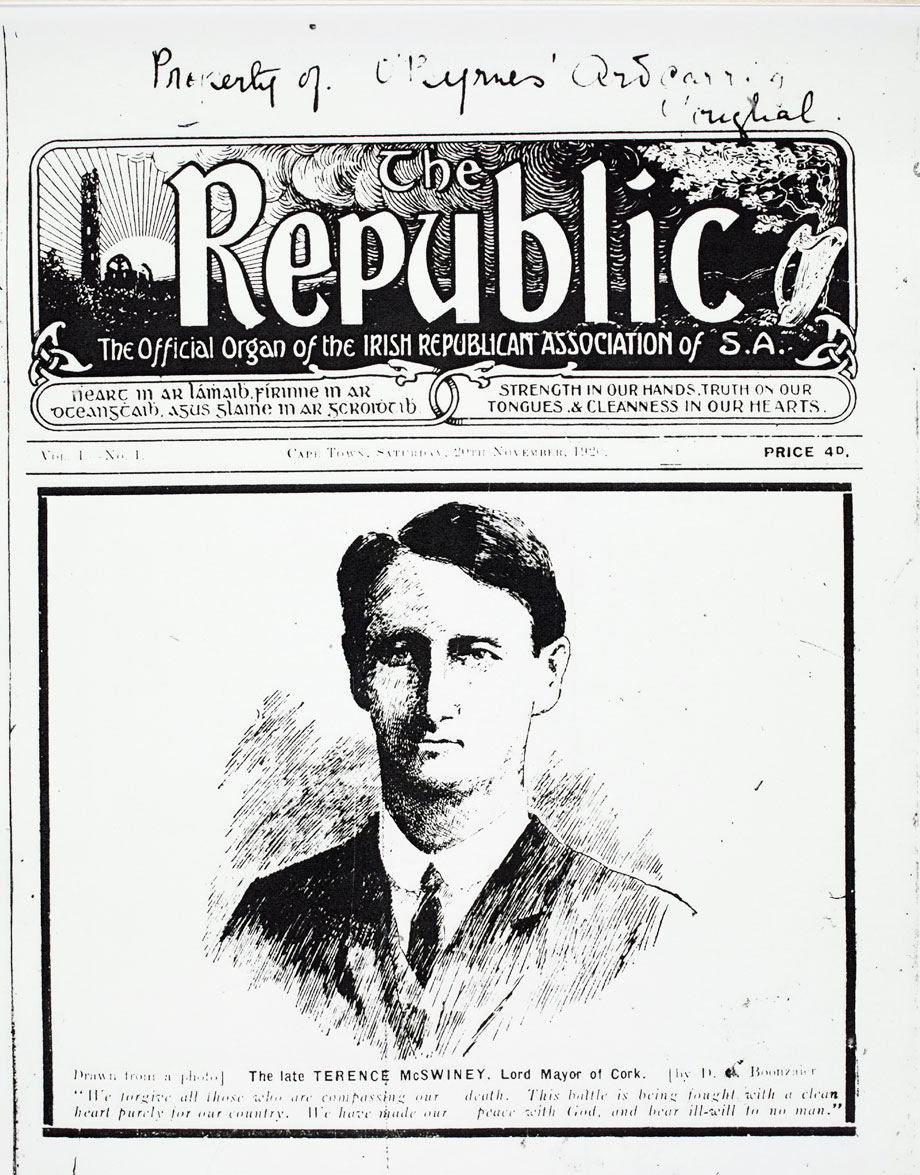 The very first issue of The Republic from Saturday, 20 November 1920