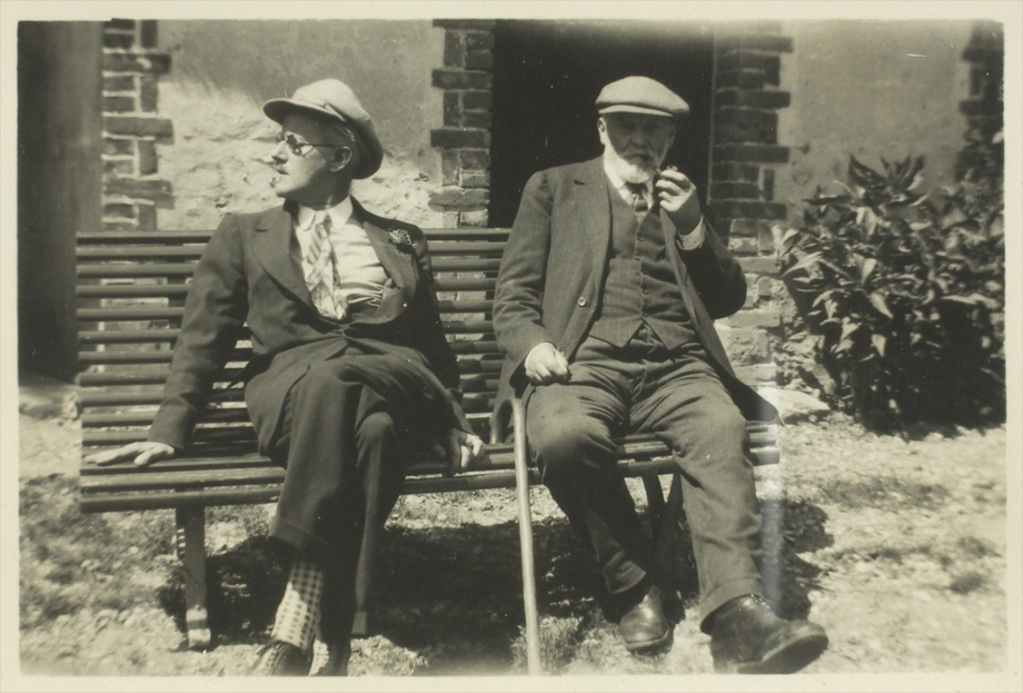 James Joyce with Clovis Monnier, father of Adrienne Monnier, who published the French translation of Ulysses