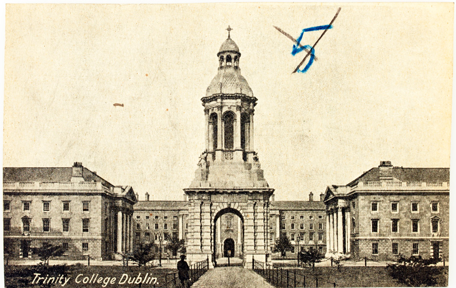 The Campanile at Trinity College Dublin, long before the M.Phil in Public History and Cultural Heritage was a twinkle in anyone's eye. (Lawrence Postcard Series)