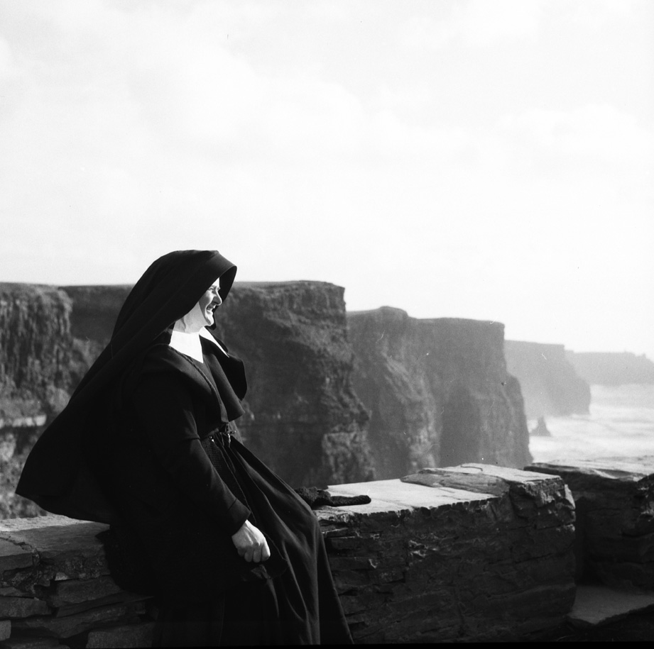 Nun at the Cliffs of Moher