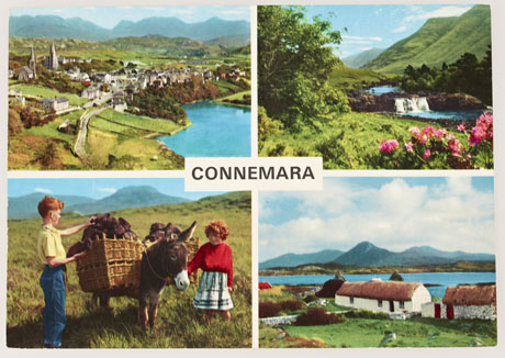 Hinde postcard of Connemara